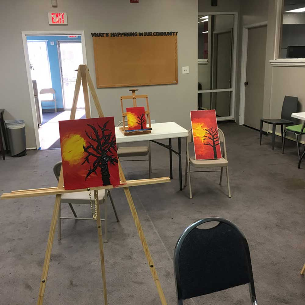 Paint Classes Taught by Volunteers
