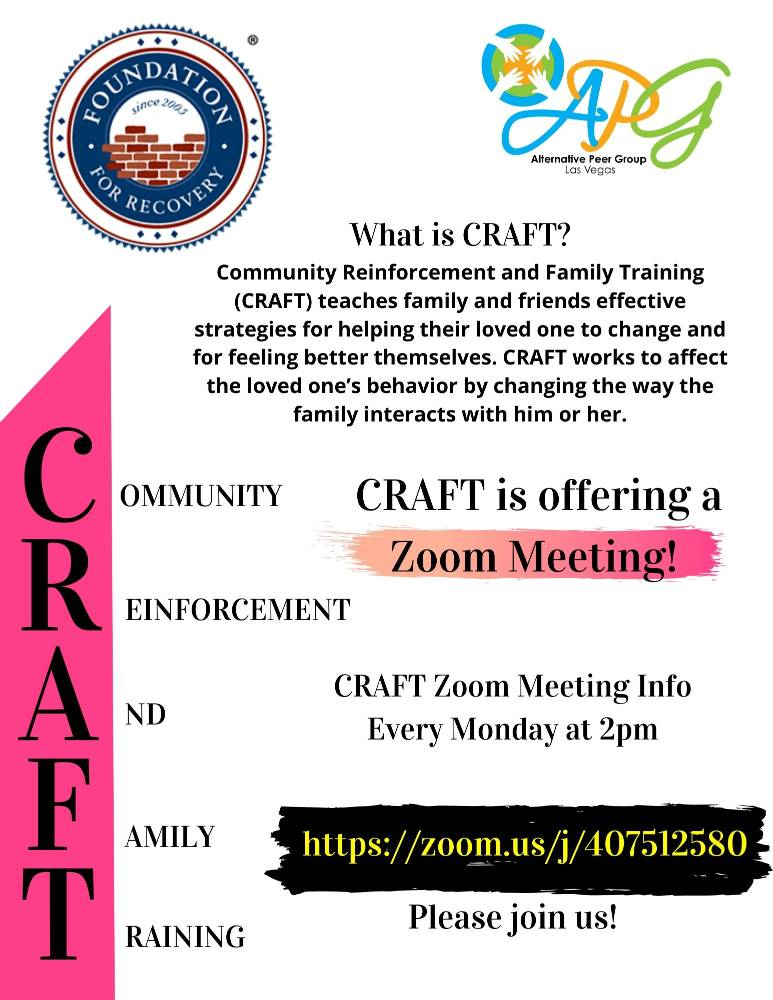CRAFT Zoom Meeting Flyer