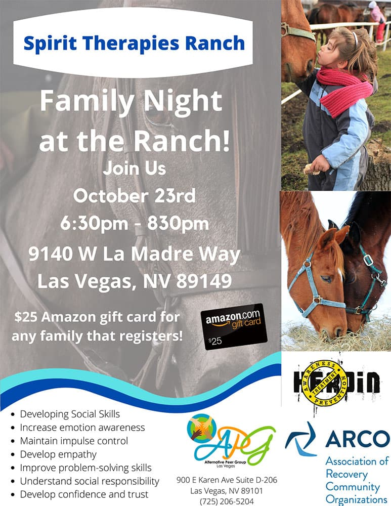 Spirt Therapies Ranch Family October Flyer
