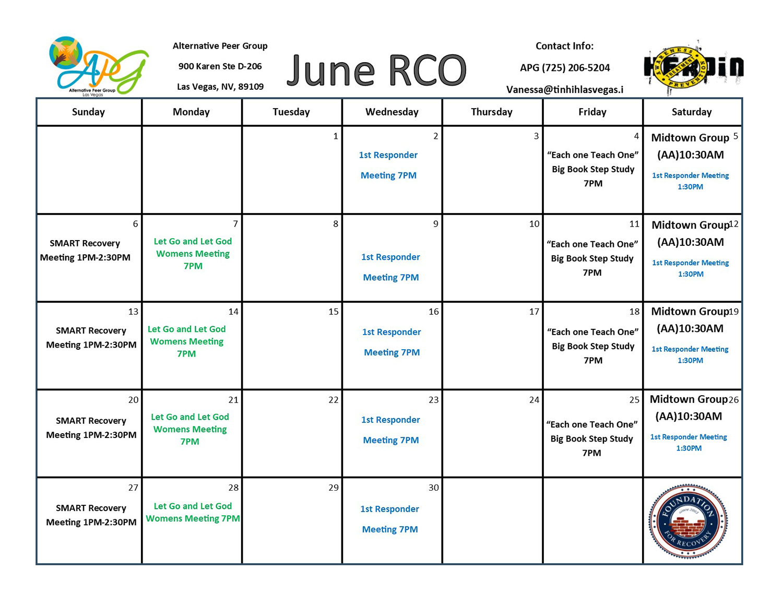 APG RCO Schedule June 2021